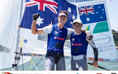 Mathew Belcher/Will Ryan (AUS) & Hannah Mills/Eilidh McIntyre (GBR) Win 2019 470 World Championship